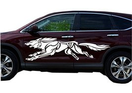 PANDA SUPERSTORE Set of 2 Cool Wolf Car Decals Stickers Waterproof Custom Car St