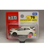 TOMICA NO.76 HONDA CIVIC TYPE R WHITE BLISTER 1/64 TAKARA TOMY JAPAN - $4.94
