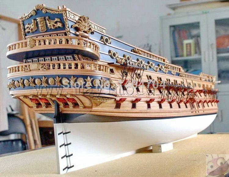 1/50 Luxury classic sail boat Wooden model kits San Felipe warship model image 2