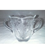 First Love Duncan And Miller Open Sugar Bowl Etched 1940s USA Vintage Clear - $24.99