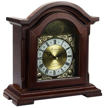 Bedford Clock Collection Redwood Mantel Clock with Chimes - $45.59