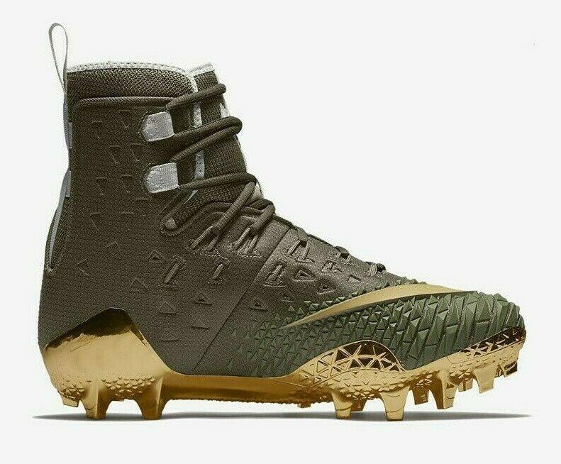 Nike Force Savage Elite TD Mens Football Cleat Olive Green Gold AH6424 271
