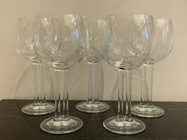 """Rosenthal Crystal CUPOLA Pattern 7 1/8"""" Red Wine Glasses Set of 5 - $349.00"""