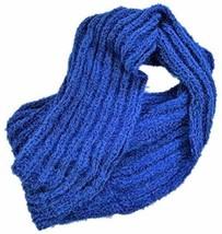 INC International Concepts Textured Knit Infinity Scarf Eyelash Yarn, Blue - $14.85