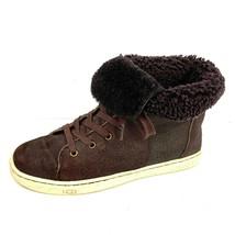 "UGG Australia ""CROFT"" Brown Bomber Sheepskin Foldover Sneaker  Size US 7  - $44.54"