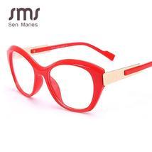 Vintage Cat Eye Glasses Frames Women Men Luxury Brand Fashion Optical Clear Lens image 4