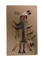 Navajo Sand Painting Signed Native American Art Original Small Lucy Curt... - $24.70