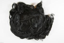 Ash Black Brunette Short Monofilament Jon Renau Curly Toupee - $452.39