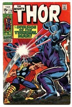 THOR #170 comic book 1969 MARVEL COMICS THERMAL MAN JACK KIRBY VG - $30.26
