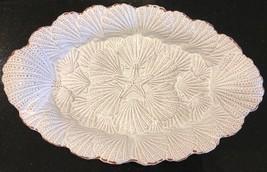 "Mud Pie Seashells Starfish Large Oval Scalloped Serving Bowl 14"" x 9"" - ₹4,317.90 INR"
