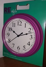 2009 RE target Analog Wall Clock plastic pink Purple. Arabic numerals  - £11.83 GBP