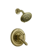 Delta Lahara 17 Shower Trim Kit Champagne Bronze Dual Function 5-Spray Head - $112.86
