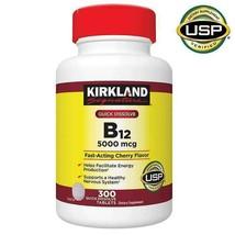 NEW Kirkland Signature Quick Dissolve B-12 5000 mcg., 300 Tablets FREE S... - $31.18