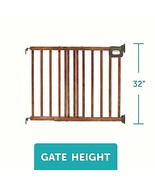New SUMMER INFANT Deluxe Wood Simple - Secure Top Of Stairs Safety Gate Baby Pet - $33.37