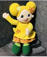 "The Ooshes Lavinias's World Plush 18"" Flower Doll Yellow Orange Dress (2... - $47.52"