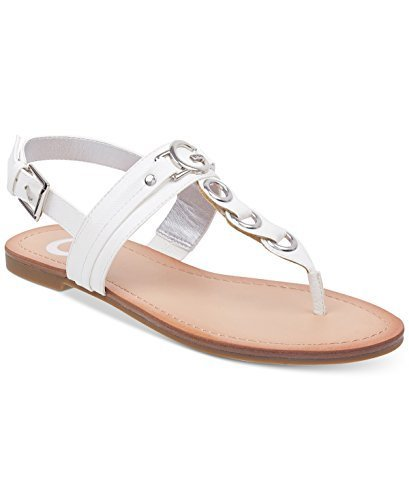 G by GUESS Lesha Women's Flat Sandals (8, White)