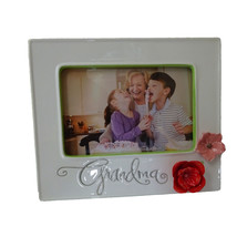 Hallmark Grandma Mother Handcrafted Sculpted Floral Photo Frame Picture ... - $19.75