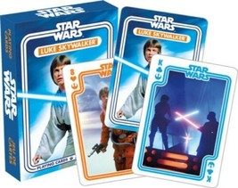 Star Wars Luke Skywalker Young Jedi Photo Illustrated Playing Cards Deck... - $6.19
