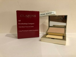 Clarins Everlasting Compact Long Wearing Foundation  #107 Beige NIB .3 oz - $17.51