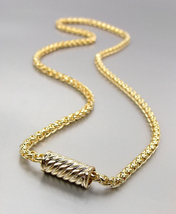 """CLASSIC 18kt Gold Plated BALINESE Cable Magnetic Clasp 17"""" Cable Chain N... - $21.99"""