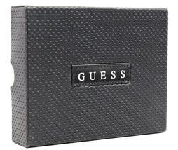 Guess Men's Premium Leather Credit Card ID Billfold Wallet Black 31GU22X003 image 7