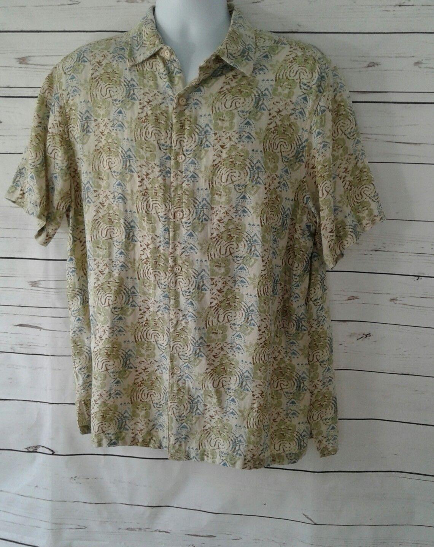 60705098706 S l1600. S l1600. Previous. Margaritaville Mens Size Large Lg Short Sleeve Button  Front Shirt ...