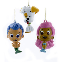 Bubble Guppies-Gil, Molly & Bubble Puppy-Set of 3-Holiday - $28.26