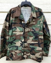 GENUINE USGI COAT WOODLAND CAMOUFLAGE PATTERN COMBAT JACKET - LARGE REGU... - $9.90