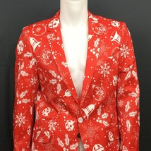 Christmas Blazer Men Size 42 Slim Fit Holiday New Suslo Couture Men Red ... - $59.99