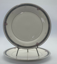 SET OF 2 Noritake Japan Ivory China ETIENNE 7260 Dinner Plates 10 1/2 Inches - $1,484.01