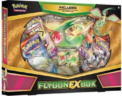 POKEMON TCG (3) Collection Boxes: Flygon EX, Charizard EX, Mega Gyarados Sealed