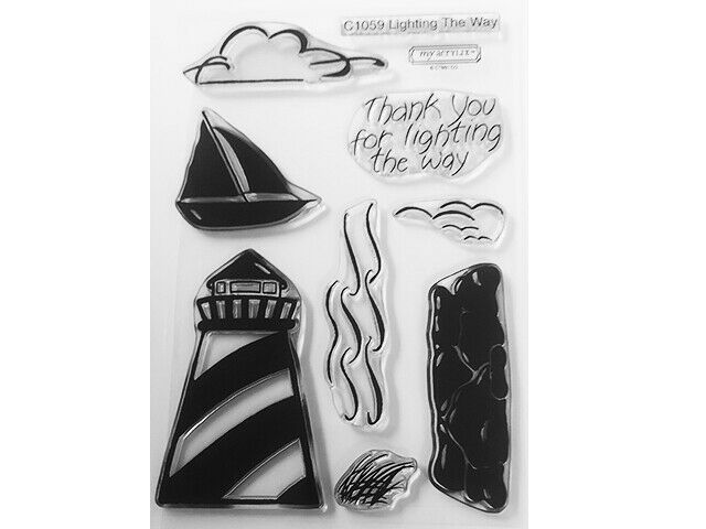 """Close to My Heart """"Lighting The Way"""" Clear Cling Acrylic Stamp Set #C1059"""
