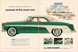 Vintage 1955 2-Page Magazine Ad De Soto Modern Power & Smirnoff & Simmons Sofa - $5.93