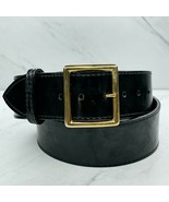Black USMC Approved Wide Patent Leather Sword Belt Size 34 - $30.95