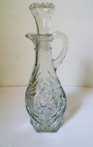 Anchor Hocking Pres-cut (aka Star of David) Clear Cruet with Stopper - $4.40