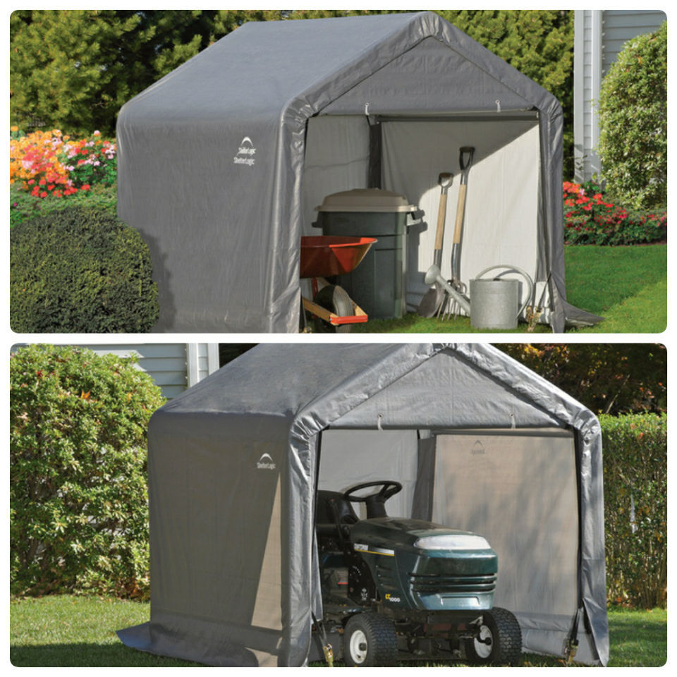 6 x 6 Ft Portable Garden Storage Shed In A Box Peak Canopy Outdoor Store Tools