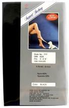NEW KORUS WOMEN'S CONTROL TOP STOCKINGS PANTYHOSE ONE SIZE BLACK P-777 image 2