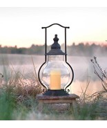 Country new large distressed tin STEEPLE Candle lantern - $48.00