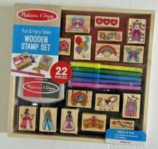 Melissa & Doug Wooden Stamp Set: Fun & Fairy Tales Brand New SEALED! - $14.99