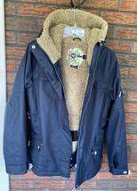 Roxy 5000 Winter Coat Large Sherpa Lined Ski Jacket Air Vents Drawstring... - $49.00