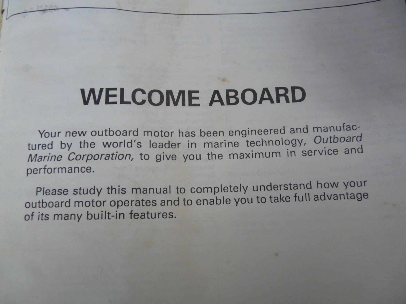 Johnson outboard motor manual 60/70 models and 50 similar items