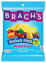 Brach's Sugar Free Mixed Fruit Hard Candy, Individually Wrapped, 3.5 Ounce Per B