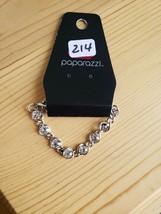 Paparazzi Bracelet(New) Silver W/ Clear Stones 214 - $7.61