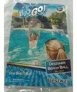 """Beach Pool Toys, H2O Go, 20"""" Designer Beach Ball Clear With Splats NEW 2+ - $7.50"""