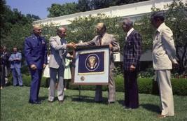 President Gerald Ford presents medal to NASA Apollo astronauts - New 8x1... - $8.81