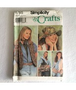 Simplicity 8765 Crafts Pattern Vest Tote Bag Waist Pouch Festival + Home... - $7.00