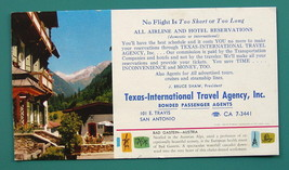 INK BLOTTER 1950s - Color Photo Bad Gastein Austria + AD Texas Travel Ag... - $4.28