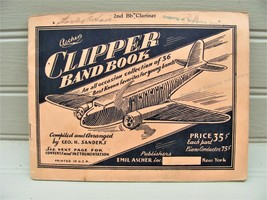 1936 Ascher's Clipper Band Book Clarinet 36 Grade School Band Songs Kenn... - $9.65