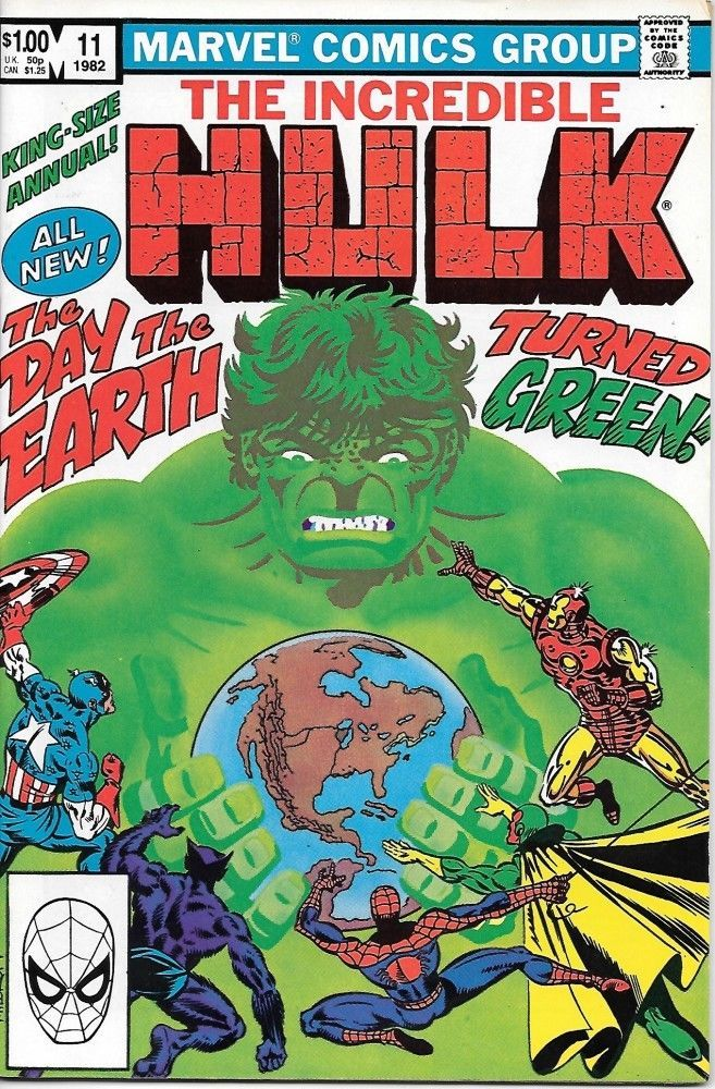 Primary image for The Incredible Hulk Comic Book King-Size Annual #11 Marvel 1982 VERY FINE-