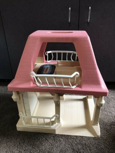 Vintage LITTLE TIKES Dollhouse with Pink Roof GRANDMA'S COTTAGE doll house Only